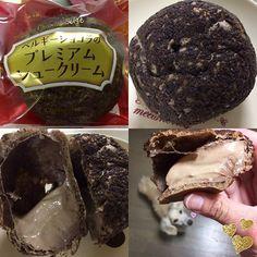 WEBSTA @ ushico0827 - おはよ(//∇//)#夜スイーツ シャトレーゼさんの ベルギーショコラのプレミアムシュークリームだよ(๑´ڡ`๑)少し遠いけれど、#シャトレーゼ に行きたい欲が出てきて、行ってきたよ(*´꒳`*)いちごミルクパンと、ベルギーショコラのシューと、バターと餡子のパンケーキを購入♬♫♬昨夜のおやつは#ベルギーショコラのプレミアムシュークリーム を食べたよ(๑>◡<๑)http://ameblo.jp/ushicohomepage0827/entry-12240566683.html#甘党女子 #スイーツブロガー #プレミアムシュークリーム #チョコレート #ベルギーショコラ #ショコラ #シュークリーム #チョコクリーム #断面テロ #堅さん早く春にならないかな。寒いのヤダヤダ( ̄^ ̄)