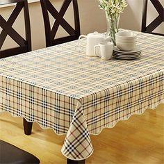 Luxury Plastic Plaid Tablecloths