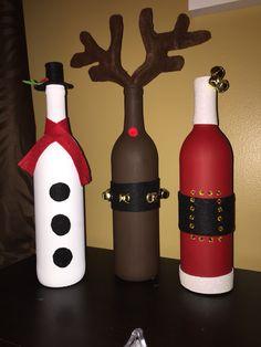 Glass Bottle Decoration For Christmas Wine Bottle Crafts  Christmas   Pinterest  Wine Bottle