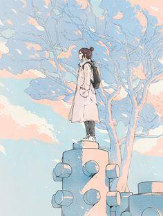 digital art girl kawaii graphic design aesthetic drawing photoshop modern anime style asian japanese chinese ethereal g e o r g i a n a : a r t Art And Illustration, Illustrations, Kunst Inspo, Art Inspo, Aesthetic Art, Aesthetic Anime, Aesthetic Drawing, Anime Art Girl, Manga Art