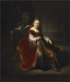 A Young Woman at her Toilet. Una mujer jóven en su retrete. Rembrandt. 1632-1633. Oil on canvas. 109.2 X 94.4 cm. National Gallery of Canada. Ottawa.
