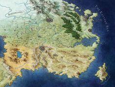 My map of the world of the Empire, illustrated for Sabaa Tahir's Ember in the Ashes.