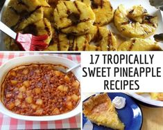 17 Tropically Sweet Pineapple Recipes Easy Pineapple Cake, Pineapple Desserts, Pineapple Recipes, Recipes Using Fruit, Pudding Flavors, Grilled Fruit, Good Food, Yummy Food, Rainbow Food