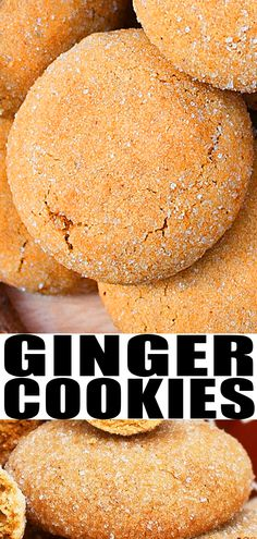GINGER COOKIES RECIP