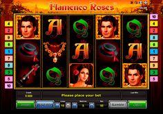 """Lass der Flamenco starten! Spanische Liebe und Passion vereinigt in sich der Novomatic Entwickler mit seinem kostenlosen """"Flamenco Roses"""" Video Spielautomat. Erlebe  Spanische Sucht im Tanz!"""