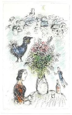 The bouquet of roses - Marc Chagall