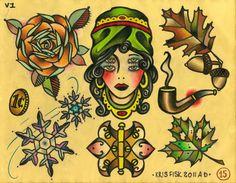 Traditional tattoo wallpaper