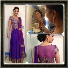 Madhuri Dixit in Manish Malhotra. pretty. Salwar Designs, Dress Designs, Madhuri Dixit, Indian Salwar Kameez, Churidar, Pakistani Outfits, Indian Outfits, Anarkali Dress Pattern, Haute Couture