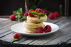 Cottage cheese pancakes homemade traditional Ukrainian and Russ by OxanaDenezhkina  IFTTT 500px raspberry. mint background breakfast cake cheese cheesecake closeup cottage curd delic
