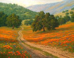 Spring Colors. Charles H. White (born 1943) is Canadian landscape artist, lives and works in San Francisco, California.