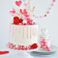 White Cake with Vanilla Buttercream - Baking with Blondie Skinny Cake, Chocolate Candy Melts, Chocolate Cake, Chocolate Buttercream, Raspberry Buttercream, Raspberry Cake, Valentines Day Cakes, Cold Cake, Drip Cakes