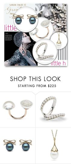 """""""little h"""" by edy321 ❤ liked on Polyvore featuring pearljewelry and littlehjewelry"""