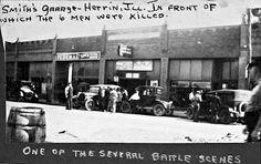 Smith's garage in Herrin, KKK headquarters and site of shootings
