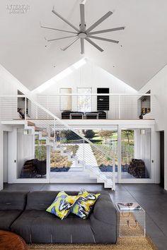 Energy saving ceiling fan/ Firm: Turnbull Griffin Haesloop Architects. Location: Petaluma, California. Photography by David Wakely.