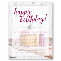Mary Kay Happy Birthday to You! Customizable postcard to offer your customers a special incentive for their birthday! Find it only at www.thepinkbubble.co!!