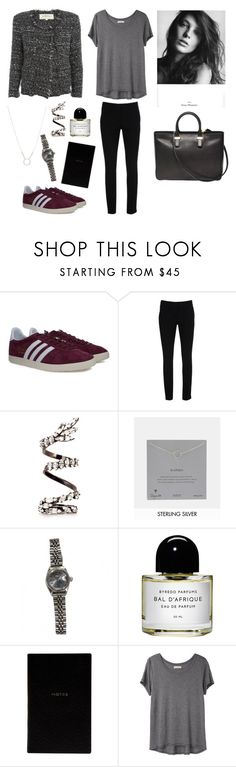 """""""Outfit"""" by emmimieux ❤ liked on Polyvore featuring adidas, Warehouse, Erickson Beamon, Dogeared, Rolex, Byredo, Étoile Isabel Marant, daria, Smythson and Organic by John Patrick"""