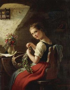 Johann Georg Meyer von Bremen, Making a Bouquet