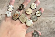 Steampunk Rings -- Vintage Clockwork Design -- Steampunk Jewelry, choose a ring for yourself, 1 of 12 on Etsy, ¥1,230.00