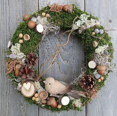 Natural forest wreath, natural wreath, house decor wreath with a bird Wreaths For Front Door, Door Wreaths, Grapevine Wreath, Dried Flower Wreaths, Dried Flowers, Summer Wreath, How To Make Wreaths, Grape Vines, Flower Power