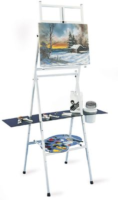 Bob Ross 2-in-1 Easel.  I could paint happy little trees with two different types of easel!
