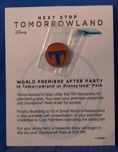 Disney TOMORROWLAND Movie World Premiere After Party Invitation & Pin #Disney #WorldPremiereofTomorrowlandatDisneyland