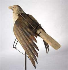 Unusual and Possibly Unique Mechanical Crow Decoy