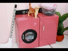 How to Make a Doll Washer and Dryer - YouTube