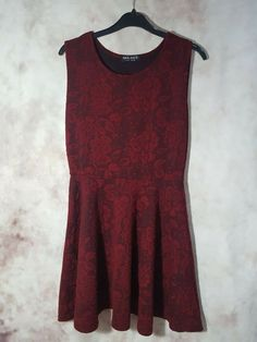 fd2a9800210f8 Select dark red maroon lace skater dress Size 14  fashion  clothing  shoes   accessories  womensclothing  dresses (ebay link)