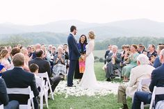 We love the intimacy that was created by this couple being encircled by their loved ones at Photo by Intimate Wedding Ceremony, Wedding Day, Vineyard Wedding Venues, Shenandoah Valley, Blue Ridge Mountains, Southern Weddings, Got Married, Florals, First Love