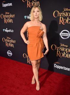 Alisha Marie attends the world premiere of Disney's 'Christopher Robin' at the Main Theater on the Walt Disney Studios lot in Burbank, CA on July Christopher Robin, Girl Celebrities, Celebs, Alisha Marie, Red Carpet Ready, Laurdiy, Medium Hair Styles, Youtubers, Cute Dresses