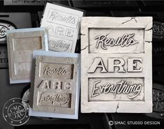 Results are everything , drawing, sculpting, quotes, sayings Wall Decor Quotes, Beautiful Space, Wall Plaques, Sculpting, Create Your Own, Wall Art, Drawing, Sayings, Handmade