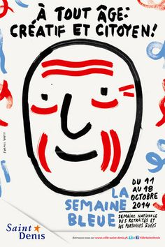 Formes Vives, affiche pour la Semaine Bleue, ville de Saint-Denis, 40x60cm, offset quadri, octobre 2014