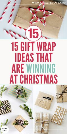 The best gift wrapping ideas and advice for your holiday gifts and Christmas presents, including wrapping paper, tying ribbons, present toppers, painted gift wrap ideas and handmade gift wrap pictures and tutorials. Diy Christmas Gifts For Friends, Christmas Gift Wrapping, Handmade Christmas, Holiday Gifts, Christmas Diy, Best Christmas Presents, Holiday Ideas, Creative Gift Wrapping, Creative Gifts