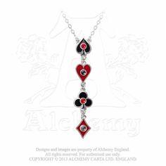 Pewter BAT with Red Gem Pendant on Adjustable Black Cord Necklace  Rockabilly
