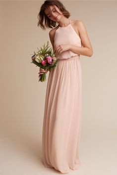BHLDN's Donna Morgan Alana Dress in Blush