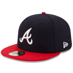 * Men's Atlanta Braves New Era Navy/Red Home Authentic Collection On-Field 59FIFTY Fitted Hat, Your Price: $34.99