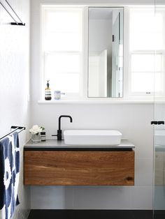 Compact bathroom - image by Eve Wilson for The Design Files.