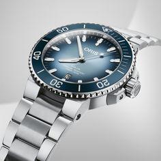 Oris Aquis Date Lake Baikal Limited Edition Oris Aquis, Lake Baikal, World Water, Limited Edition Watches, Lake Water, Change Is Good, Stainless Steel Bracelet, Magazine, Design