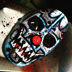 New mask for sale! More at www.facebook.com/dieselart #icp #masks #art #hockeymasks #shaggy2dope #sharkmouth #flyingtigers #juggalo #forsale