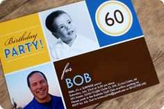 Dad's 60th Surprise Party: The Invitations