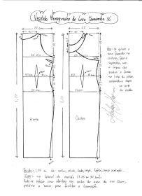 Esquema de modelagem do Vestido Bonequinha de Luxo tamanho 36.
