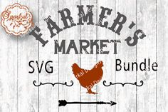 Bundle Set of 12 Farmer's Market Cut Files ~ SVG/DXF | The Hungry JPEG
