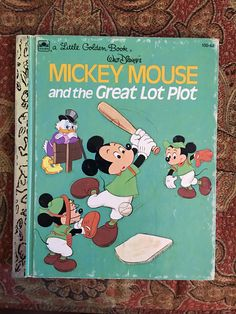Walt Disney's Mickey Mouse and the Great Lot Plot 1974 PQRST