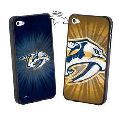 Iphone 4/4S NHL Nashville Predators Large Logo Lenticular Case