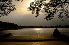 Dusk by the Pond - A dusk on the pond of Shunt Gombuj Mosque at Bagerhat, Khulan, Bangladesh.