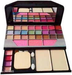 Makeup Kits Makeup kit  Product Name: Trendy eye shadow compact Finish: Shimmer Multipack: 1 Sizes Available: Free Size   Catalog Rating: ★4 (1325)  Catalog Name: Proffesional Infinite Compact CatalogID_1135724 C51-SC1245 Code: 472-7114965-375