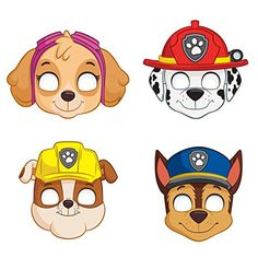 Paw Patrol Masks - 8 Pk Party Supplies Canada - Open A PartyImages Of Paw Patrol Hd Pics Wallpaper Party Masks Assorted Count AndroidsHere Are The 12 Most Exciting Paw Patrol Party Ideas! Check out these Paw Patrol party ideas, from party food to decorati Paw Patrol Face Paint, Paw Patrol Masks, Paw Patrol Clipart, Paw Patrol Skye, Paw Patrol Printable, Paw Patrol Chase Cake, Paw Patrol Party Favors, Paw Patrol Party Supplies, Paw Patrol Birthday Cake