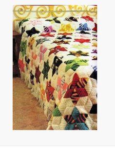 Manta patchwork con lana