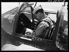 The cockpit of the P-38