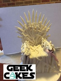 January 2016 - This Iron Throne cake topper was made for my display at CanCon 2017. It took approximately 17 hours and 170 hand made swords to create!